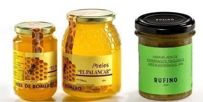 Miel y mermeladas para postres