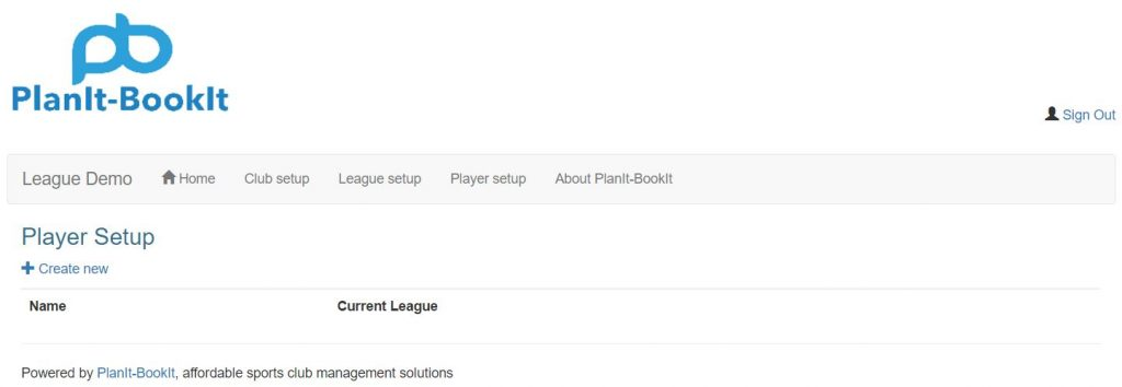Click Player setup from the main menu navigation.  From the Player Setup screen next click on the   Create new link.