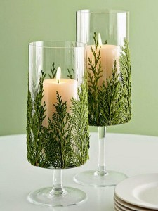 diy christmas tree candle