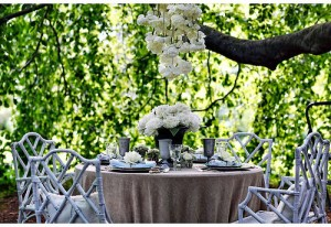 outdoor wedding round table