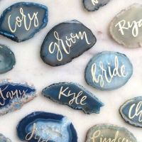 blue stone place cards