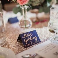 navy blue place cards