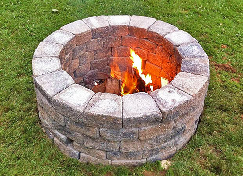 Build Your Own Outdoor Fire Pit | PlanItDIY on Building Your Own Outdoor Fireplace id=62440