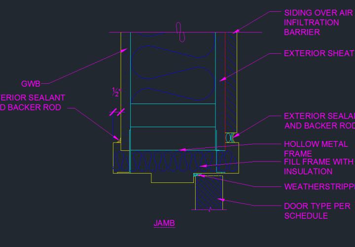 Door Frame Detail Drawing Viewframes