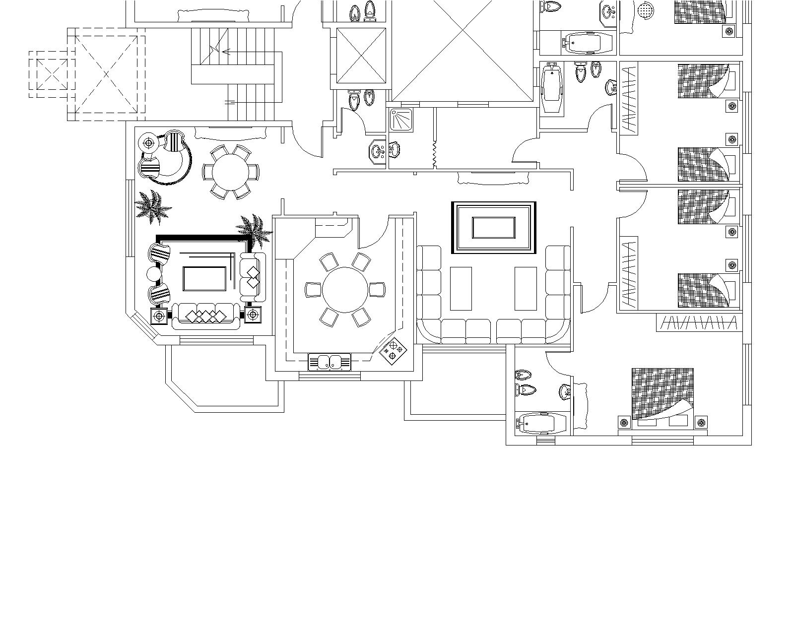 Apartments Building Typical Floor Plan
