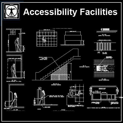 Accessibility Facilities Details V2 CAD Files DWG