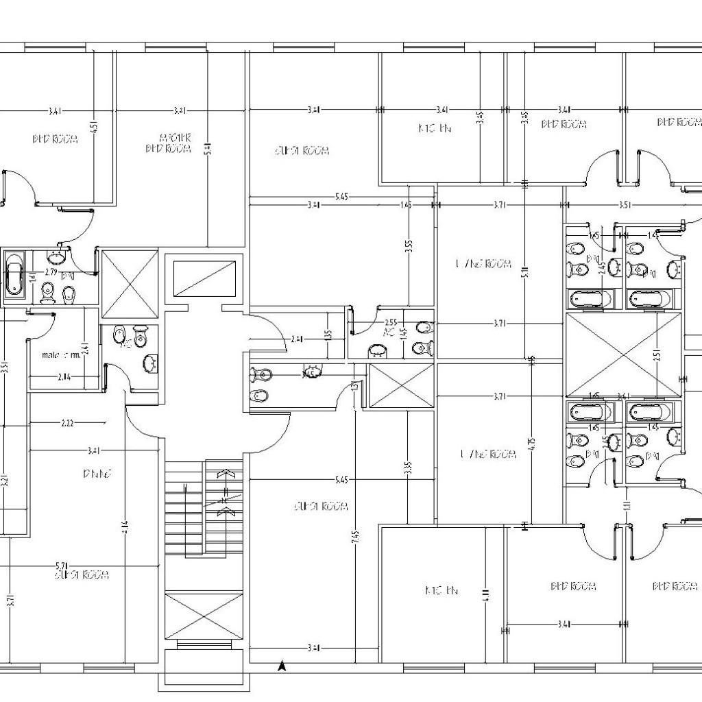 Apartment Building Design 3 Apartments Floor