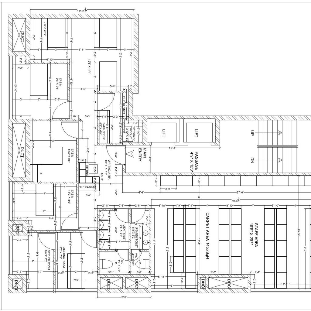 Interior Plan Of It Office