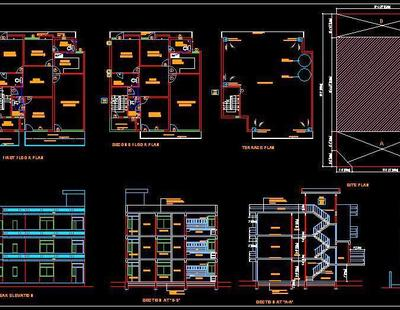Submission Drawing Of House 32x65 Autocad DWG Plan N