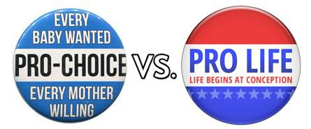 Image result for pro choice vs pro life