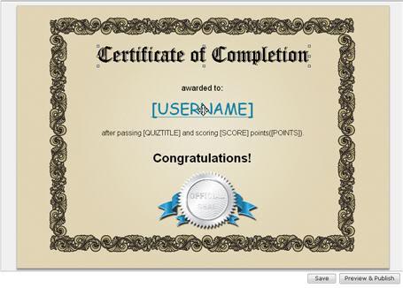Create Online Certificate Planner Template Free