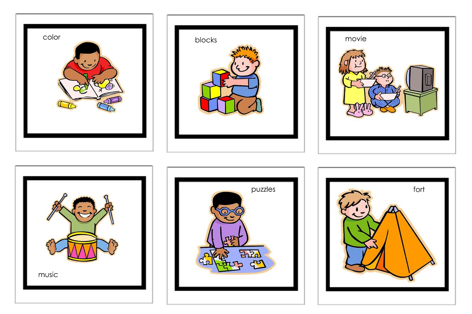 Free Printable Picture Schedule For Preschool Planner