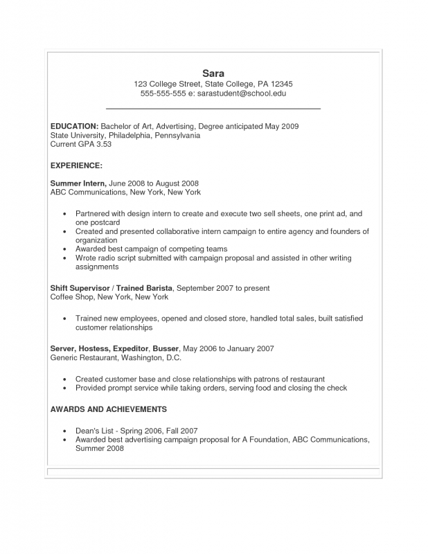 Resume For Students Still In College Vaydileforic