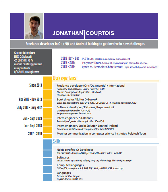 Software Engineer Android Developer Resume Samples Resume Android