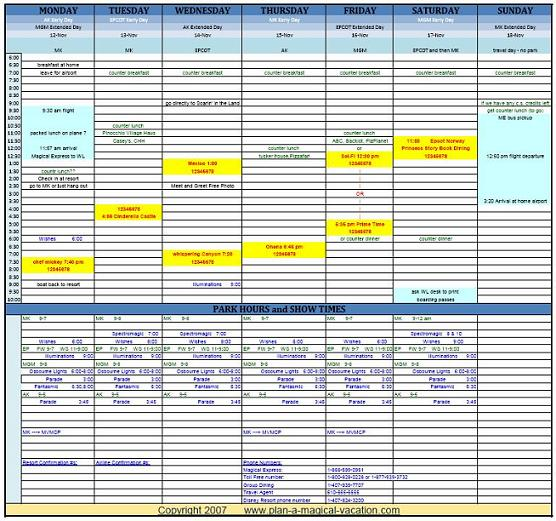 Vacation Planner Template Excel Planner Template Free
