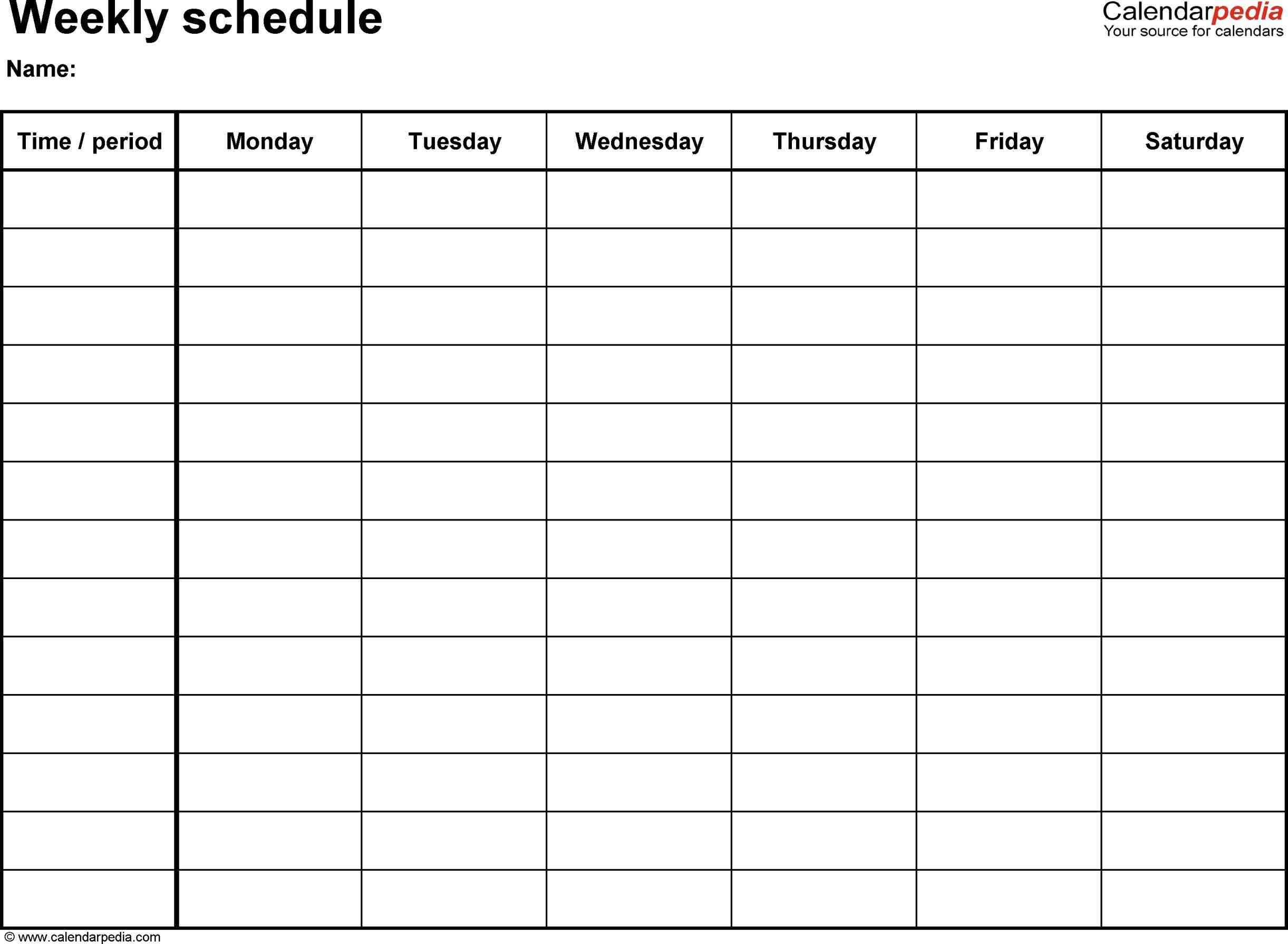 Weekly Class Schedule Maker Planner Template Free