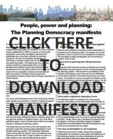 Screenshot of manifesto front page