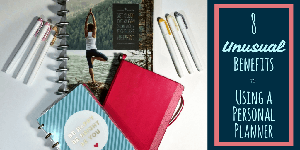 8 Unusual but absolutely incredible benefits to using a personal planner. It can improve your health, it makes you more put together, and ultimately helps improve your organization. Tips, tricks, and suggestions for why you should keep a planner or bullet journal!