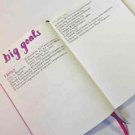 How to start using long term goal tracking in your bullet journal! Learn tips, suggestions, and ideas to make the process of breaking down long term goals successful in your monthly , weekly, and daily layouts. Increase your motivation and productivity with this fantastic bujo article.