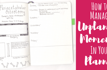 How to Manage Unplanned moments in your planner header