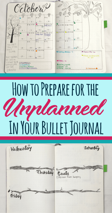 Everybody experiences unplanned moments in their lives, so no sense in worrying about them! This article provides ideas and tips to help you overcome obstacles in your bullet journal or planner. Make a little organization and make your life less stressful!