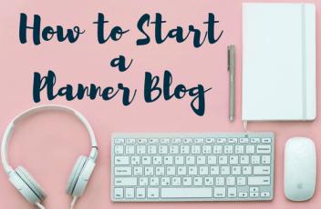 Start a Planner Blog Header 1
