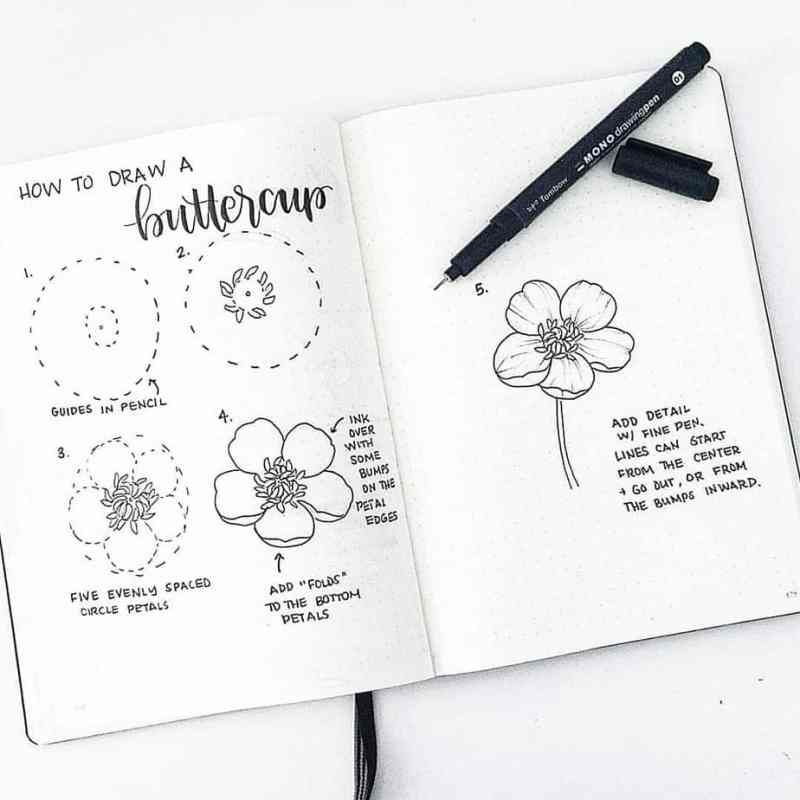 how to draw flowers in a circle