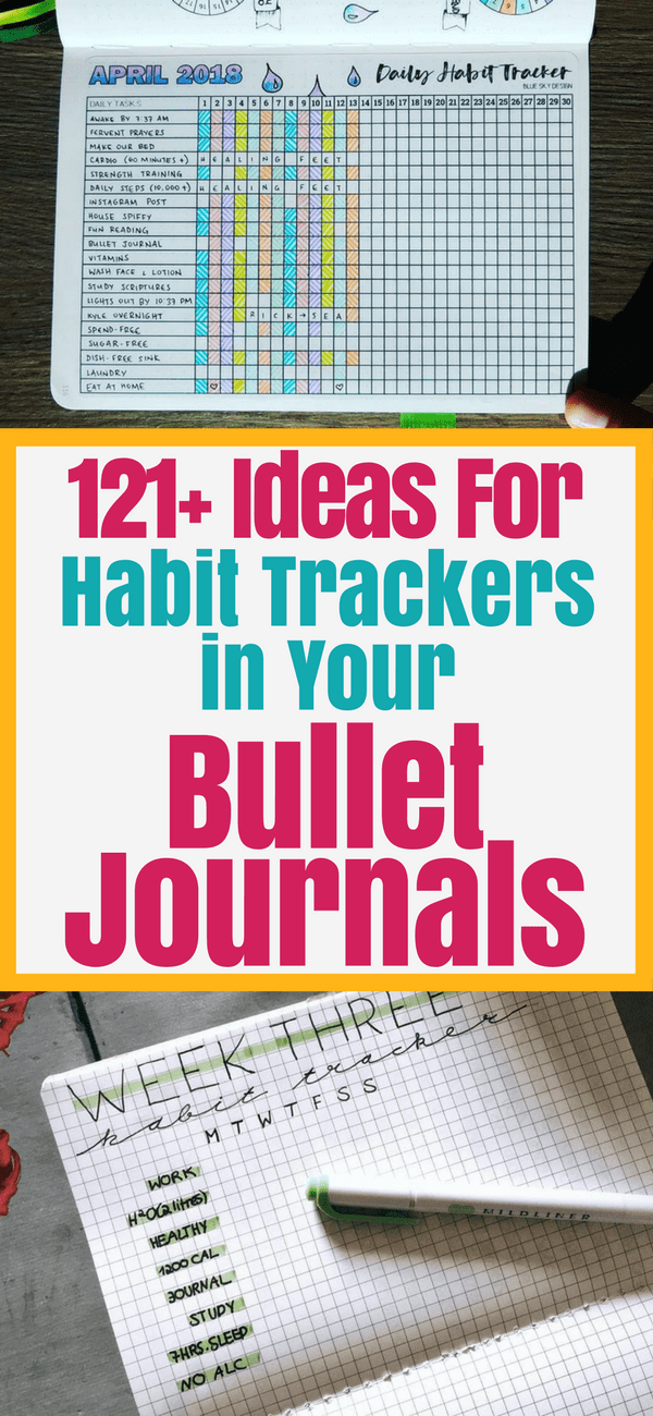 121+ Habit Tracker Ideas for Your Bullet Journal - Planning