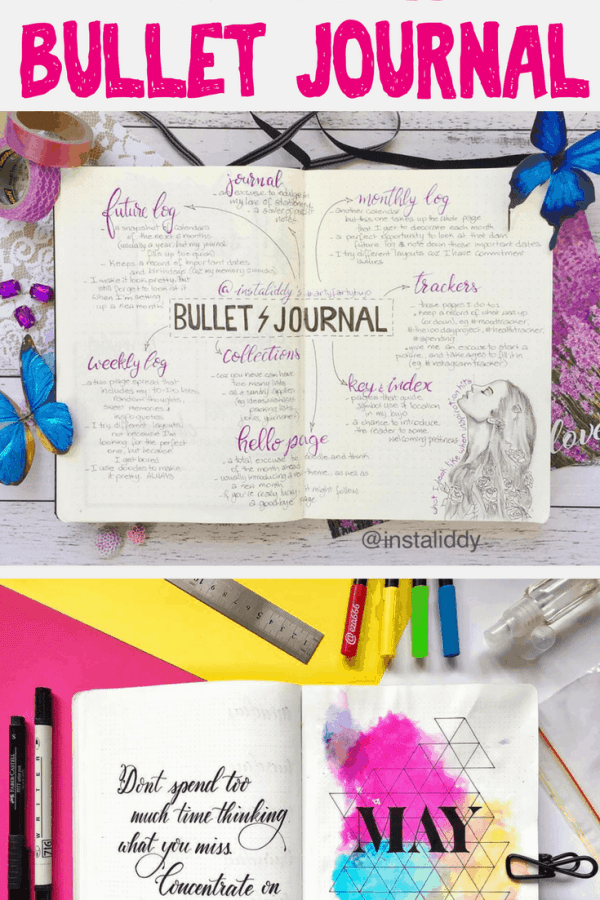 How to defeat first page fear in your bullet journal. Do you want to know how to start a bullet journal but feel afraid to write on the first page? Let these super helpful bullet journal ideas guide you to rock your bullet journal with confidence. Get inspiration and tips for perfect setup and amazing spreads for your very first page. #bulletjournal #bujo #bulletjournalideas #diy
