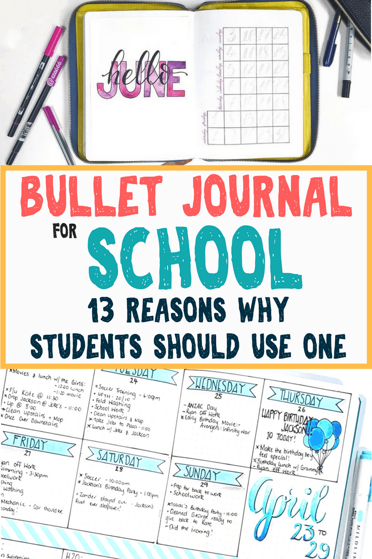 bullet journal for school  13 reasons why students should