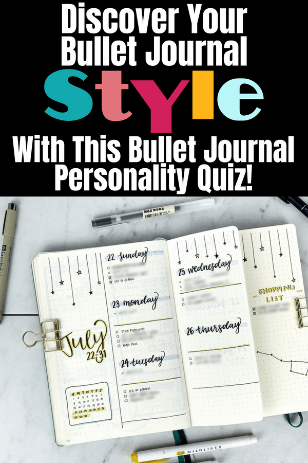 Discover your Bullet Journal Style with this Bullet Journal personality quiz! This quiz will help define your planner personality, connect with other bullet journal accounts in your style, and find blog posts that will suit your needs! Bullet journal ideas and inspiration fun in quiz form! #bujo #bulletjournaljunkies #planner