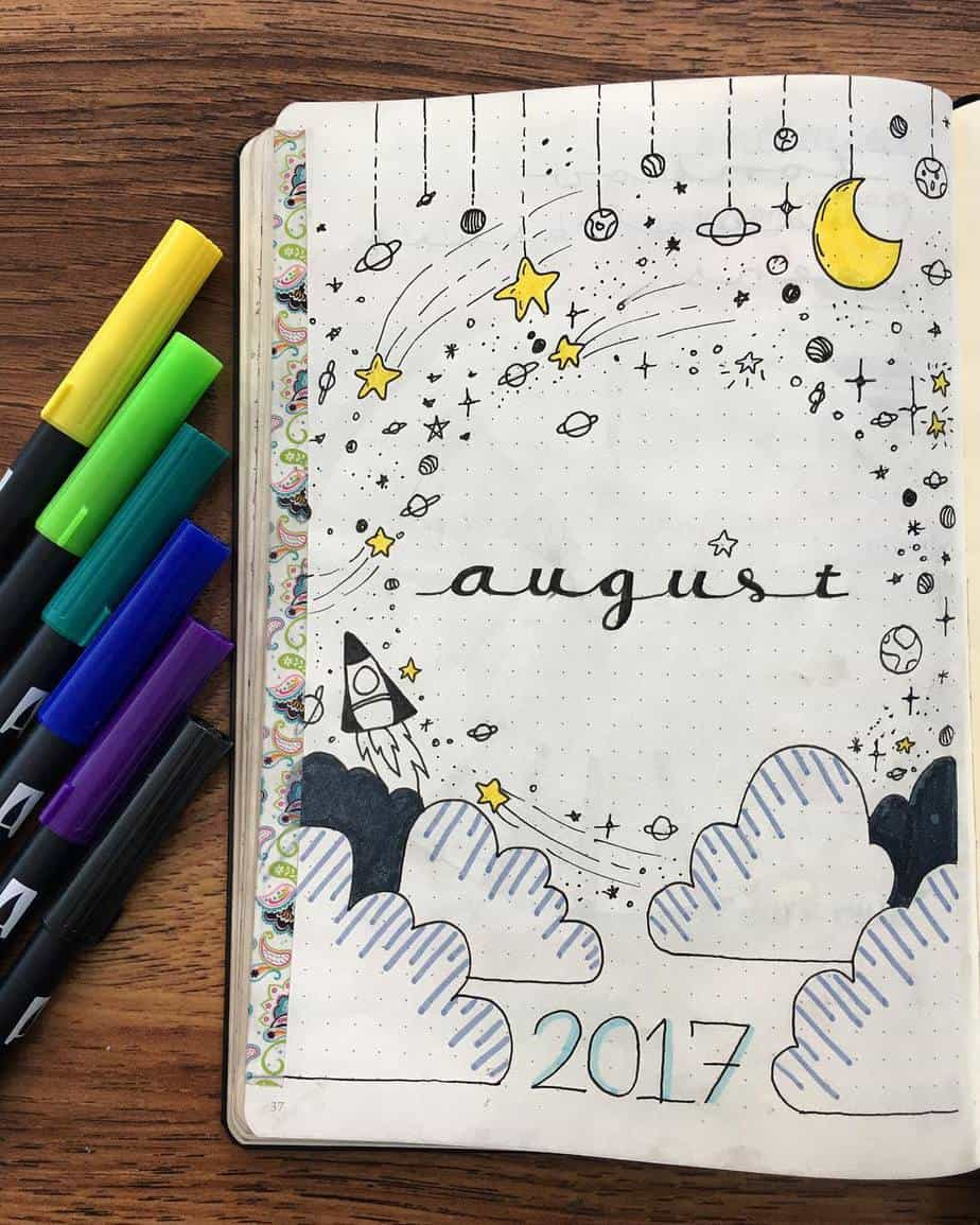 60 Beautiful Bullet Journal Cover Page Ideas For Every Month Of The Year