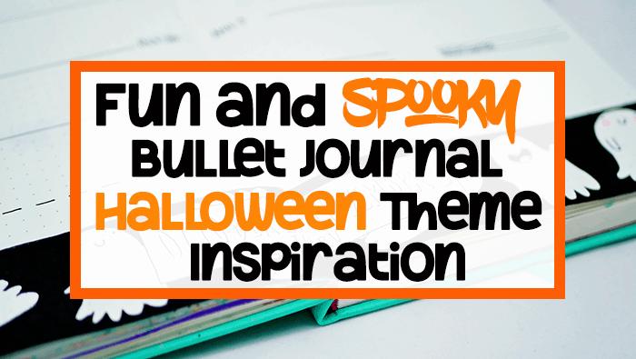 Bullet journal halloween theme ideas blog post header image