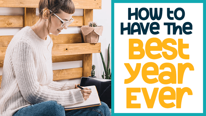 How to have the best year ever blog image header.