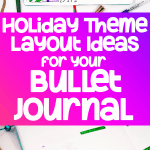 Bullet journal Pinterest image for holiday spread ideas in your bullet journal