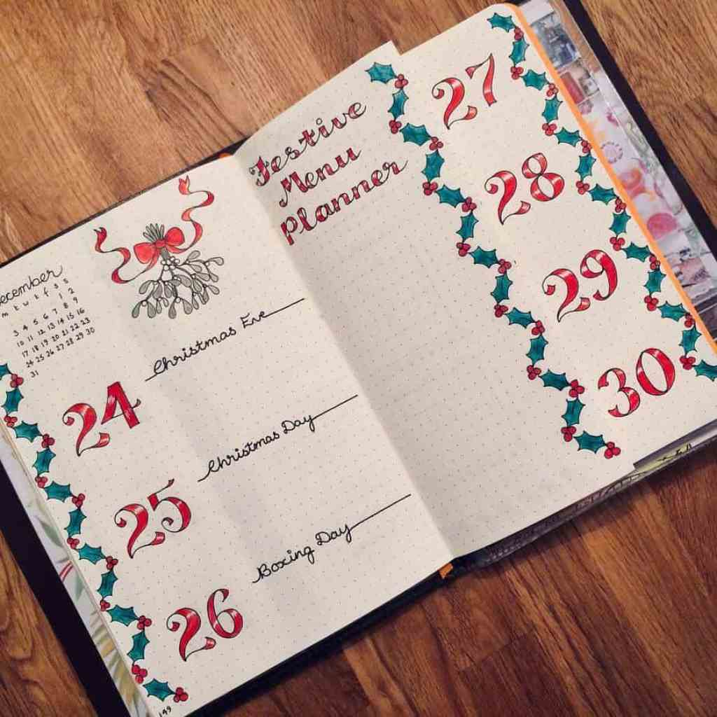 Holiday weekly layout from dotty.daydreams