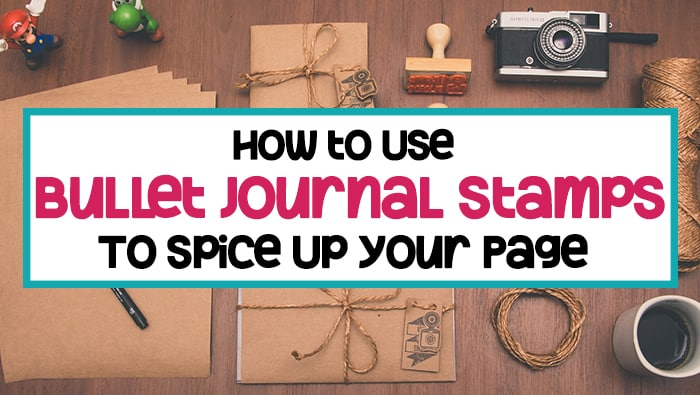 How to Use Bullet Journal Stamps to Spice Up Your Page