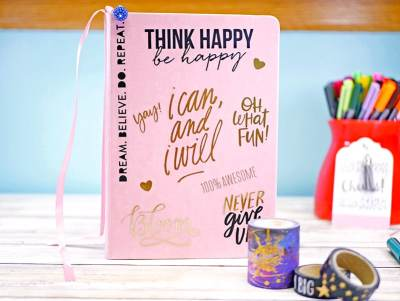 Decorated journal notebook