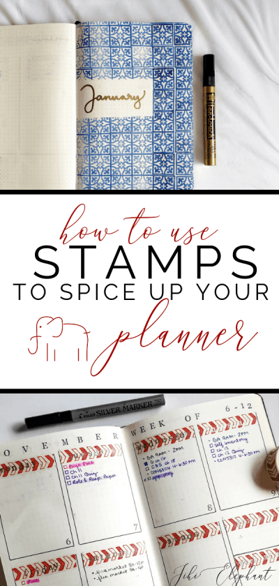 How to use stamps to spice up your planner pinterest post