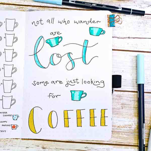 Coffee quote bullet journal