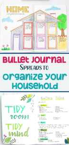 Bullet journaling article to help you clean and organize your home