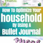 Optimize your household with your bullet journal.