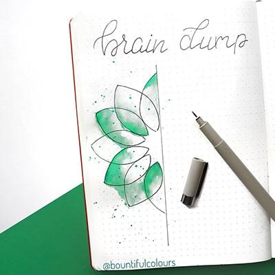 Leaf doodles journaling page