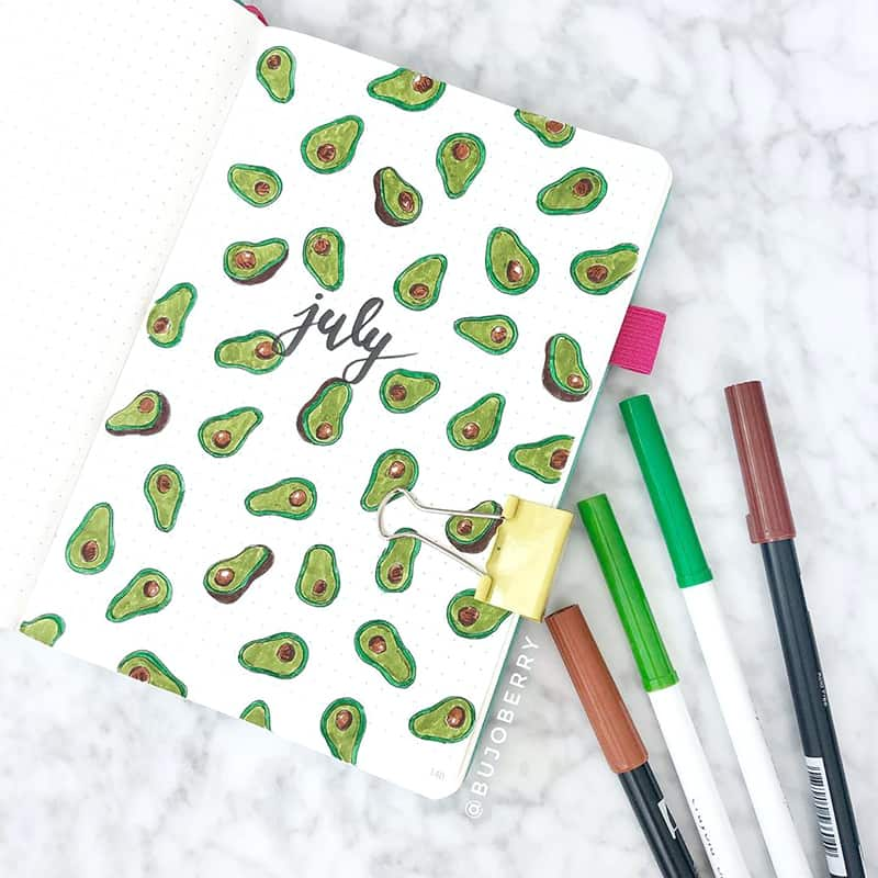 Avocado July cover page theme