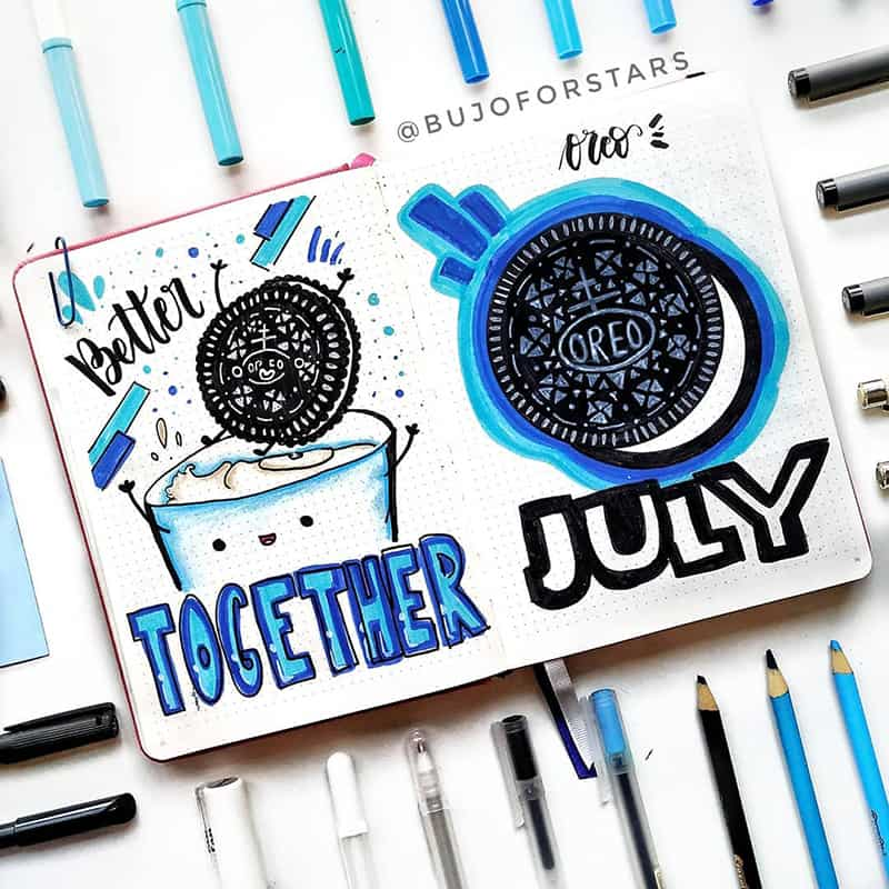 Oreo bullet journal themes