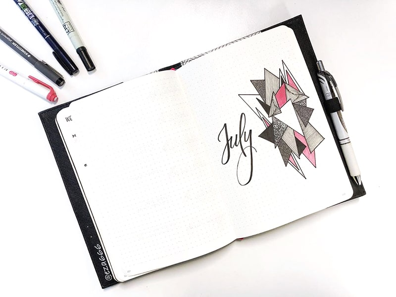 July geometric cover page