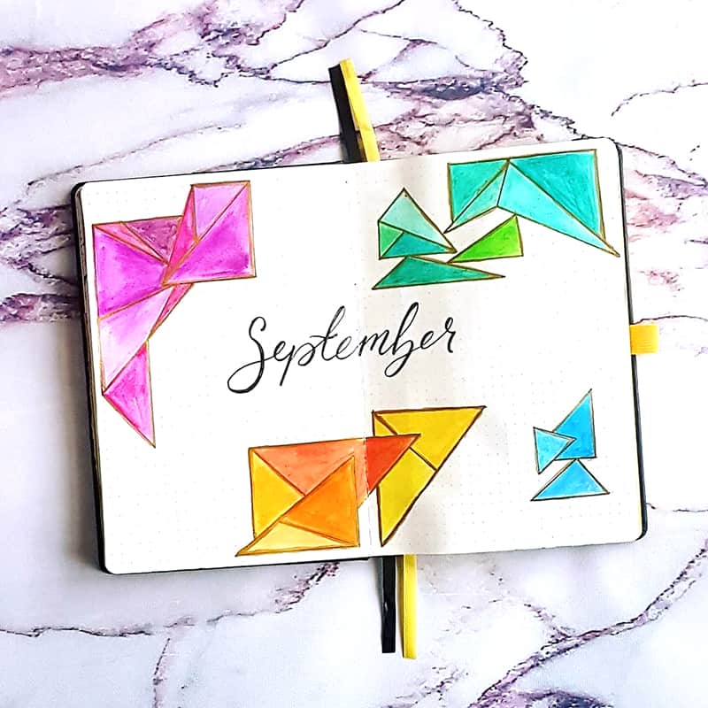 September cover page with shape
