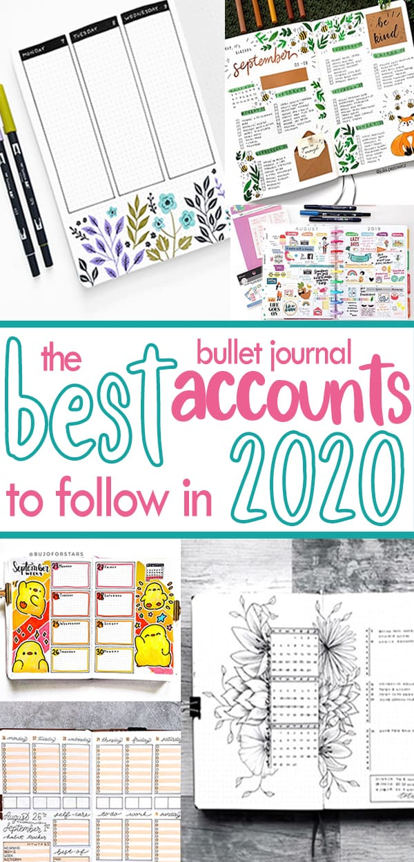 Best bullet journal accounts you must follow in 2020