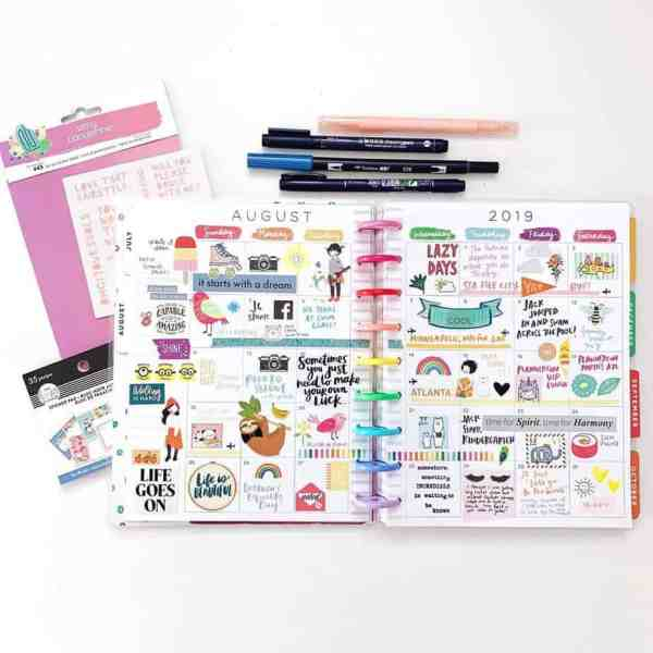 Planner with stickers Amy Tangerine