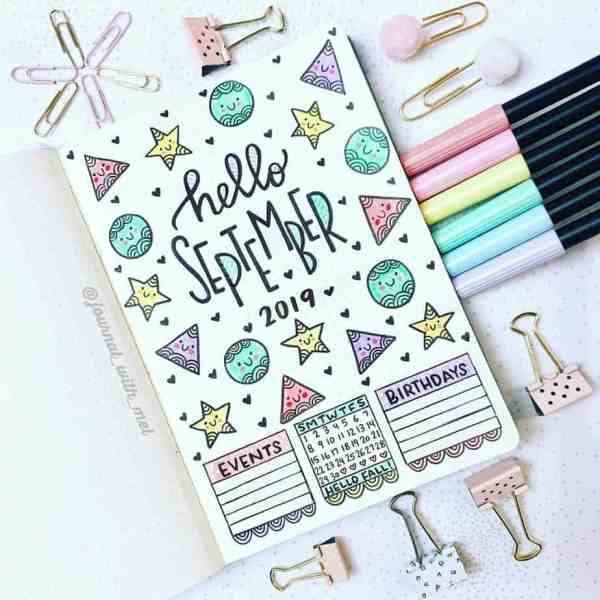 Fun doodle September cover page